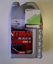 Fuchs Titan PRO-S 5W40 OLIO MOTORE + hamp FILTRO OLIO-INTEGRA TYPE-R DC5 DC5