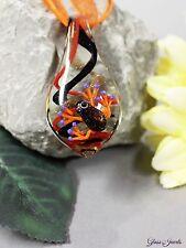 Glass Jewels Schöne Halskette Collier Anhänger Frosch Glimmer Aventurin  #M014