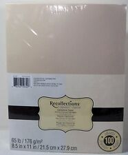 """Recollections Cardstock Paper 8 1/2"""" x 11"""" 100 Sheets SILVER CHAMPAGNE SHIMMER"""