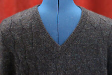 NWT Mens Medium Daniel Cremieux Dark Blue 100% ALPACA V-Neck Sweater New $150+
