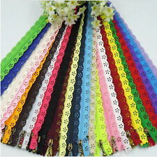 10Pcs 20cm Multicolor Nylon Closed End Lace Zipper for Clothing Random Delivery