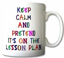 Keep Calm and Pretend Its On The Lesson Plan COLOURED Mug Cup Gift Retro
