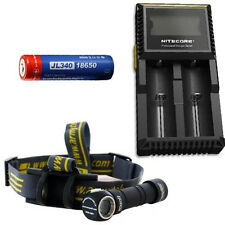 Combo: Armytek Wizard Pro v3 XHP50 (White) Headlamp w/ D2 Charger & 3400 Battery