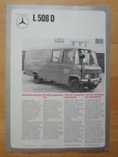 MERCEDES BENZ L508D Fire Fighting Van Vehicle 1974 Leaflet Brochure