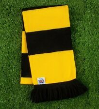Watford Colours Retro Bar Scarf - Yellow & Black - Made in UK