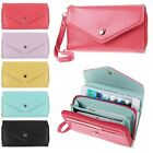 Leather Wallet Purse Phone Case for iPhone 6 4 4S 5 5S Samsung Galaxy S2 S3 S4