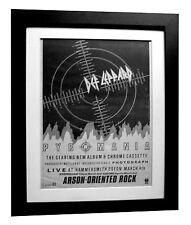 DEF LEPPARD+Pyromania+TOUR+POSTER+AD+RARE+ORIGINAL 1983+FRAMED+FAST GLOBAL SHIP