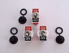 3 BBT On/Off Heavy Duty Toggle Switches w/ Waterproof Boots