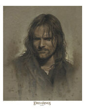 Strider - Aragorn /  Lord of the Rings paper giclee by Jerry VanderStelt