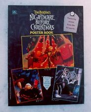 1993 ORIGINAL  Disney Nightmare Before Christmas Poster Book