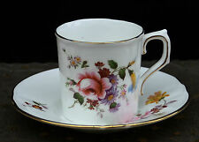 "Mokkatasse Royal Crown Derby English Bone China "" Blumenbouqet "" !!! Nr.46"
