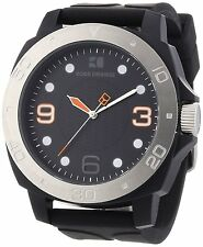 Hugo Boss Men's 1512664 Orange Analog Black Dial Black Rubber Watch