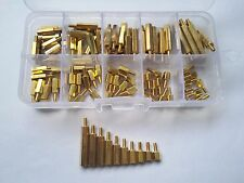 100pcs M2.5 Single-pass Pillars Brass Standoff Spacer Pillars Assortment Set
