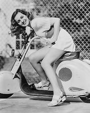 """Scooter Girl Pin up Mods 10"""" x 8"""" Photograph"""