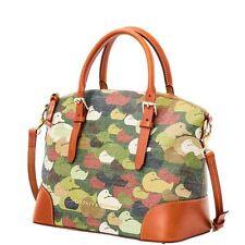 New Dooney & Bourke Camouflage Duck ROBERTSON Domed Satchel Bag