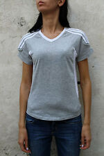Adidas Response Clima365 White & Grey Womens Sport Gym Top T-Shirt Stretch M