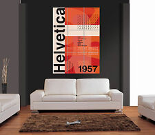 HELVETICA HISTORY Giant Wall Art Print Picture Poster
