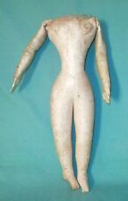 Very rare antique leather body/1860/70s/fashion doll/sewn hands