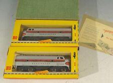 LHS 16572 Neuwertige Fleischmann Burlington Lokomotive 1343 und 1344 im Ori