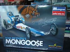 SIGNED Monogram Tom Mcewen Mongoose AA/ Top Fuel Dragster 1/24 Sealed