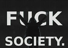 Framed Print – F@&K SOCIETY (Picture Poster Anonymous Activist Mr Robot Hackers)