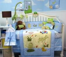 SoHo Froggie Jumping in Baby Crib Bedding 13 pcs Set included Diaper Bag