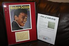 VINTAGE FRANK SINATRA - AUTOGRAPH SIGNED FRAMED ALBUM PAGE PSA/DNA FULL LOA WOW!