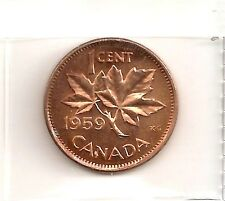 CANADIAN/CANADA 1959 SMALL CENT COIN UNC FROM ROLL