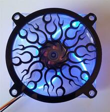 Custom 80mm FLAME SPIRAL Computer Fan Grill Gloss Black Acrylic Cooling Cover