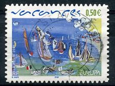 STAMP / TIMBRE FRANCE OBLITERE N° 3672 VACANCES VOILIERS RAOUL DUFY / ADHESIF