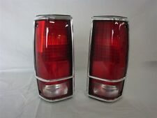 NOS OEM Pair of Chevy S-10 Blazer GMC S-15 Jimmy Chrome Tail Light Lamp 1983 -93