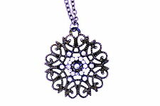 Super lovely snowflake / flower chain necklace Christmas gift