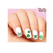 Waterslide Nail Decals Set of 20 St Patricks Day Skulls, Kiss Shamrocks Assorted
