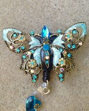 Large, Gorgeous Blue butterfly Retractable Badge Holder/ reel