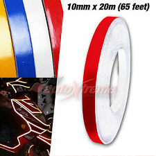 "10mm 2/5"" x 20m 65ft REFLECTIVE DIY Self Adhesive Stripe Tape Decal Sticker RED"