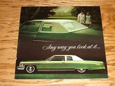 Original 1974 Cadillac Full Size Car Sales Brochure 74 Eldorado Fleetwood