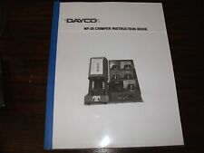 Dayco NP30 Hydraulic Hose Crimper Machine Operators Instruction Manual