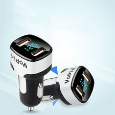 LED Display Dual USB Fast Charger 5V 2.4A Car Adapter For iphone Samsung Huawei