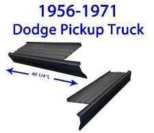 1956-71 DODGE PICKUP TRUCK ROCKER PANELS W/STEP PLATE NEW PAIR!!