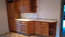 Oak Kitchen Large Solid Oak Doors Units Cupboards & Drawers wall and base glass