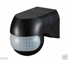 "Ip65 B Spot Light 180"" Di Sicurezza Pir Motion Movimento Sensore Rivelatore Interruttore Nero"