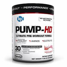 BPI Sports PUMP-HD Ultimate Pre-Workout Formula  Pre-Workout (Best by 8/16)
