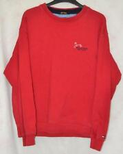 RETRO RED TOMMY HILFIGER CLEVELAND HEIGHTS GOLF COURSE SWEATSHIRT MENS UK SMALL