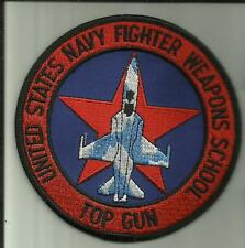 TOP GUN U.S.NAVY PATCH UNITED STATES NAVY FIGHTER WEAPONS SCHOOL PILOT AVIATOR .