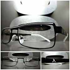 New SLEEK CONTEMPORARY MODERN Clear Lens EYE GLASSES Matte Black Fashion Frame