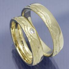 1 Paar handgefertigte Trauringe Eheringe Hochzeitsringe aus 585 Gelbgold