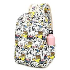 Bag Schoolbag Snoopy Dog Print Canvas Unisexs Travel Backpack Cute