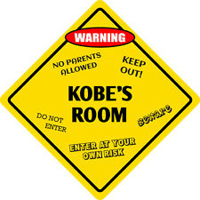 "*Aluminum* Kobe's Room Kids Room Door 12""x12""  Metal Novelty Sign"