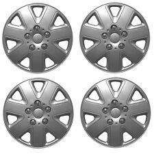 "Hurricane 13"" Car Wheel Trims Hub Caps Plastic Covers Silver Universal (4Pcs)"