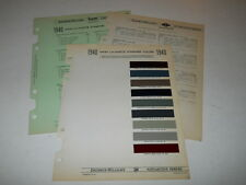 1940 NASH LA FAYETTE PAINT CHIP CHART COLORS SHERWIN WILLIAMS PLUS MORE